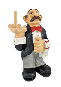 Funny waiter toilet paper roll holder butler home kitchen for Bathroom butler toilet paper holder