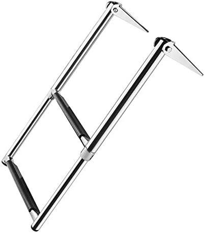 WXJHA 304 Plegable de Acero Inoxidable telescópica Escalera, 2-Paso Marina Lanzamiento Escala de baño, Paso: Amazon.es: Deportes y aire libre