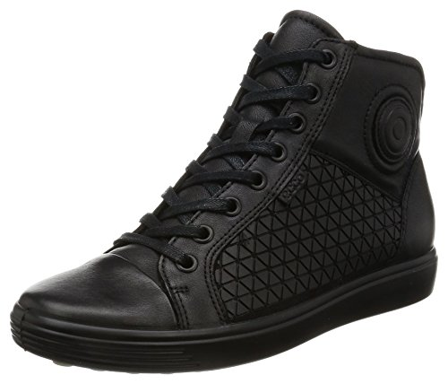 Femme Soft Sneakers black Hautes Noir 7 Ecco Ladies nOZBRqaa