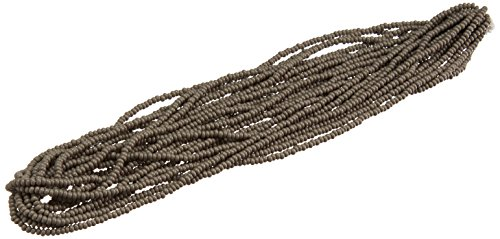 Preciosa Ornela Czech Glass Seed Bead Opaque Gray (Grey Czech Seed)