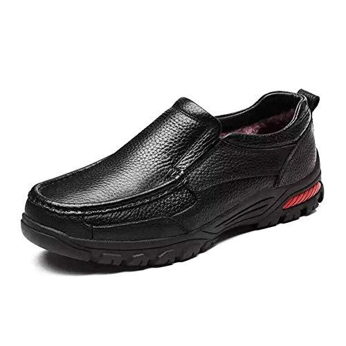 Cotton Set Cuero Cordones De Black Negro Zapatos Plus Para Eu Foot Hombre 40 Zbsy qvAa1w