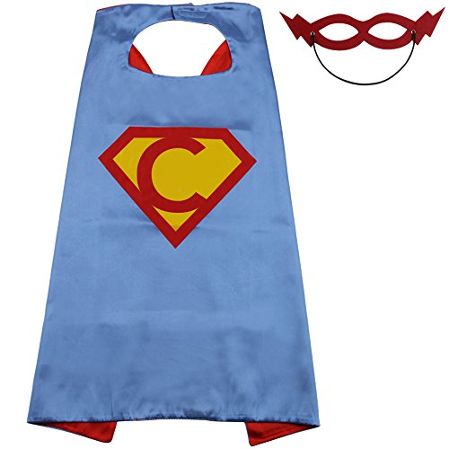 (Capes For Girls With Masks Cape Toddler Dress Up For Boys,Cosplay Superhero Capes For Kids,25 Letter Initial Capes)