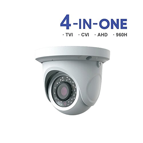 HDVD HXC8ET3W 2.4MP 4-IN-1 (AHD, HD-TVI, HD-CVI, 960H) CCTV Security Surveillance HD Night Vision 30pcs IR IR Range Up To 60FT 1080P Full HD Outdoor/Indoor Dome Camera 3.6mm Lens DC 12V For Sale