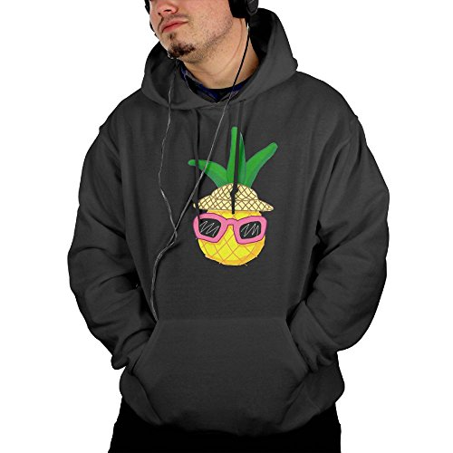 HGDXSA Cute Vacation Pineapple With Sunglasses Guys Sports Hoodies Outwear - With Cute Sunglasses Guys
