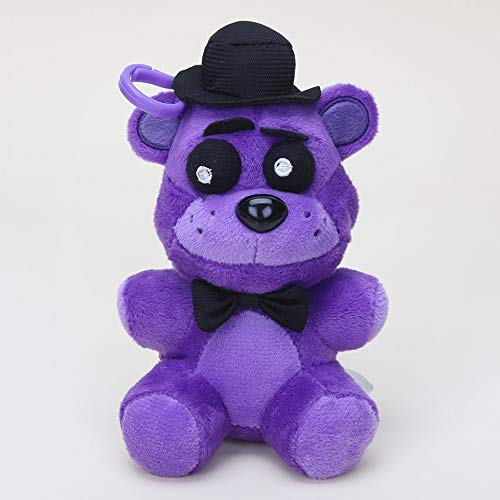 papeo FNAF Plushies 5 inch Small Soft Plush Keychain Figure Toy Mini Stuffed Toys Doll Gift Christmas Halloween Birthday Gifts Cute Collection Collectible Fazbear for Kids ()