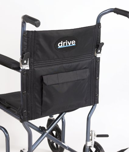 Drive Medical FW19BL Fly-Weight Transport Chair, 19 Inch, Blue by Drive Medical (Image #2)