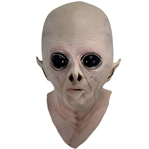 [edealing(TM) 1PCS Alien Halloween Latex Full Head Mask Sloth ET Saw Creepy Costume] (Latex Alien Mask)