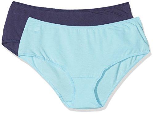 2 Stretch azul Dim De lot azul Basic Haute 5mt Unno Coton Taille Femme Mujer Culotte