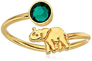 Alex and Ani 14K Gold Plated Elephant Adjustable Wrap Ring