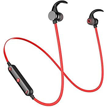 Sports Bluetooth Earbuds, AWEI Wireless Earphones IPX5 Waterproof Deep Bass HD Sound with Mic Noise Cancelling Magnetic Headset for Running Fitness Workout ...