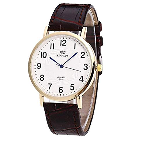 Price comparison product image Fashion Clearance Watch! Noopvan Womens Watches on Sale Women's Ladies Teen Girls Dress Wrist Quartz Watch with Leather Band Unique Casual Analog Quartz Watches Classic Wristwatch X34 (Brown)