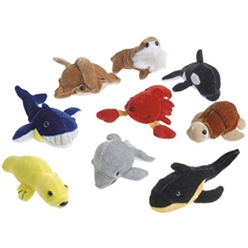 Supreme Teddy Center - Dozen Assorted Stuffed Plush Sea Animal Toys