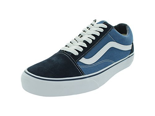 Vans Unisex Old Skool Skate Shoes, Navy/White, 5 M US Men/6.5 M US Women