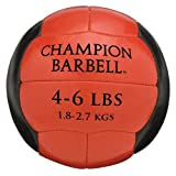 Champion Barbell Medicine Ball, 4-6 lb. - Red