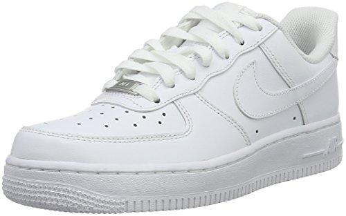 - NIKE Women's Air Force 1 '07 Basketball Shoes White 315115-112 (9)
