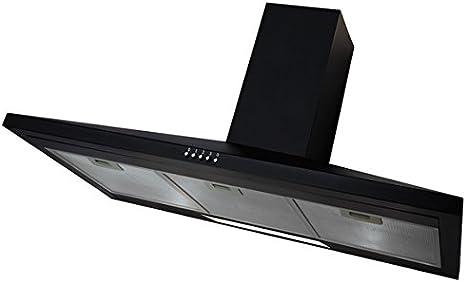 Sia 100 cm Deluxe Chimenea Campana Cocina Ventilador Extractor En Negro: Amazon.es: Grandes electrodomésticos