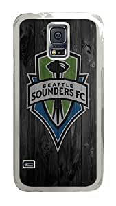 Samsung Galaxy S5 Case, Wood Seattle Sounders Fc Clear Plastic Hard Snap on Protective Case Back Cover for Samsung Galaxy S5 I9600