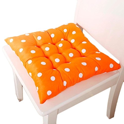 Charberry Soft Home Office Cotton Polka Dot Seat Cushion Buttocks Chair Pads (A) (Wave At The Bus)