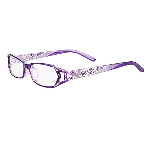 [Eyewear readers Purple Fashion Women Rhinestone Purple glasses optical frame unisex Reading Glasses CE Readers] (One Night Stand Costume For Girls)