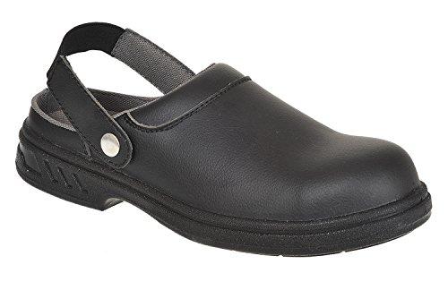 Porwest - Zueco de seguridad Modelo Steelite (FW82) Unisex todas las tallas hombre mujer - Trabajo Negro
