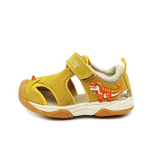 Image of Tyrannosaurus 3D Dinosaurs Baby Boy Fashion Sandals (Children/Little Kid), Baby Trex Sandal - Yellow, EU25/ US8.5/ Inner sole 160mm
