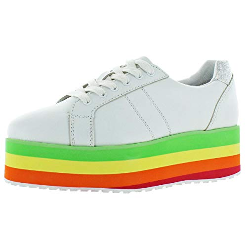 Volatile Platform Sneakers - Very Volatile Women's Jukebox Wedge Sandal, White, 7 B US