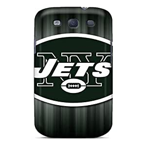 Best Cell-phone Hard Covers For Samsung Galaxy S3 With Custom Vivid Ny Jets Skin WayneSnook