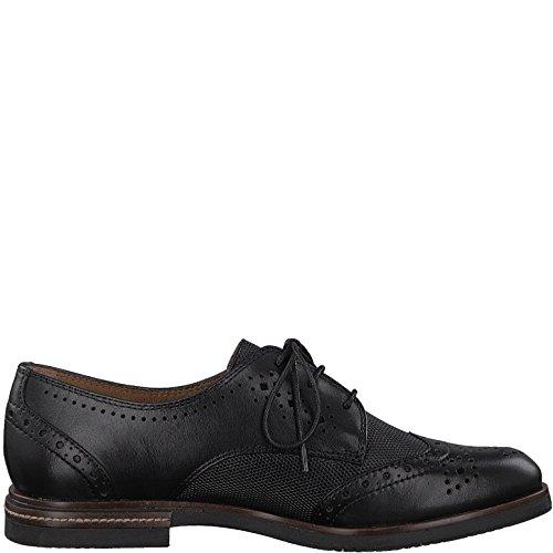 Tamaris 23207-21, Chaussures de Ville à Lacets pour Femme Noir