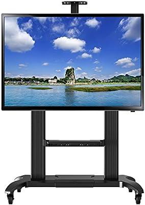NB CF100 plateado - El soporte móvil de suelo para pantallas LCD, LED, Plasma y curvadas de 60