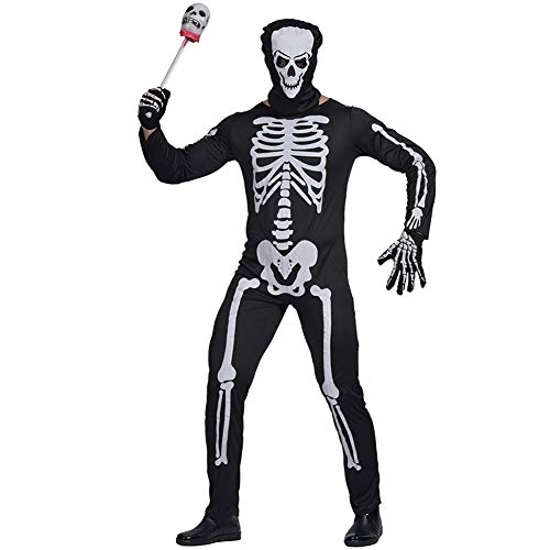 Men Skeleton Zombie Halloween Costume, S.Charma Suitable for Indoor and Outdoor Masquerade, Theme Party, Festival (XL)]()