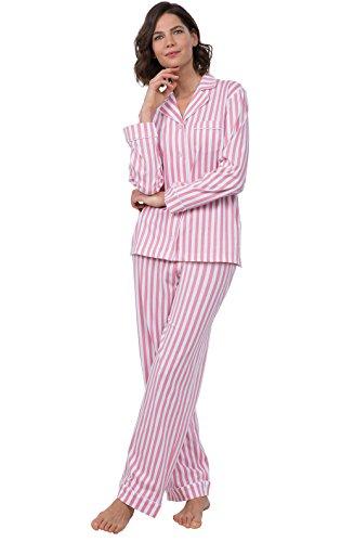 PajamaGram Pajama Sets Women Love - Soft Womens Sleepwear Set Pink Stripe Medium / 8-10 - Stripe Pyjama Set