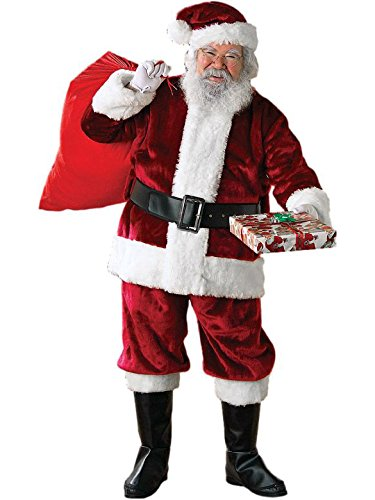 Rubie's Adult Crimson Regency Plush Santa Suit With Gloves , Standard -