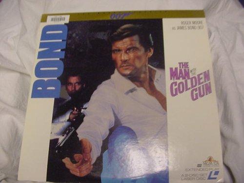Laserdisc The Man With The Golden Gun 007 James Bond with Roger Moore and Christopher Lee, Britt Ekland, Maud Adams, Herve Villechaize, and Bernard Lee. 2 disc set. Rated PG.