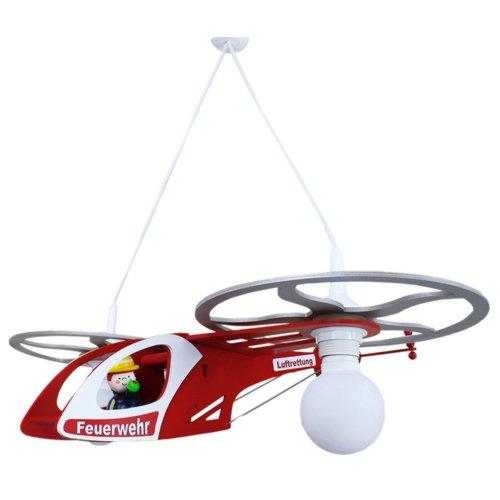 Elobra Pendelleuchte Feuerwehr Helikopter, 2 flammig ELO-128145 [Energieklasse A++]