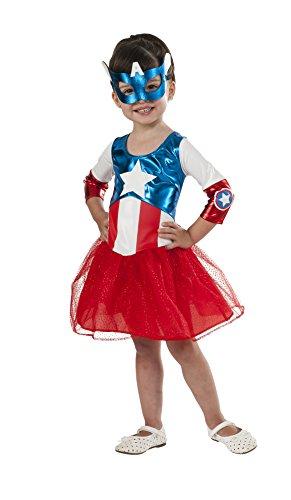 Rubie's Costume Marvel American Dream Metallic Costume, Toddler (Captain America Toddler Girl Costume)
