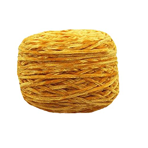 Clisil 1.1lbs Fluffy Velvet Chenille Yarn Crochet Knitting Mustard Chenille Yarn Toys Sweaters Hats Socks Velvet Yarn DIY Baby Blanket Yarn