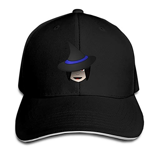 Customized Unisex Trucker Baseball Cap Adjustable Witch Head Halloween Female Clip-Art Peaked Sandwich Hat]()