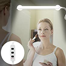 LED Vanity Mirror Light, Portable Vanity Light Mirror Makeup Light Bathroom Lighting Kit with Brightness Infinite Adjustable, Cable Controller, 360 Degree Rotation and USB Powered Cosmetic Lamp