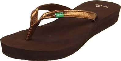 Sanuk Women's Nirvana Wedge Sandal,Bronze,11 M US