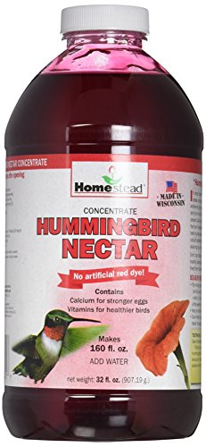 Homestead 32 oz Hummingbird Red Nectar Concentrate 4321 (Liquid), New Formula No Artificial Red Dye - Homestead Door