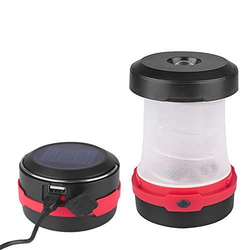 ACUMSTE Linterna Solar para Campamento, 2-en-1 Portable y Plegable Lampara Led de Campismo de...