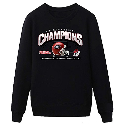 XIXU Georgia Bulldogs 2016 Taxslayer Bowl Champions Mens Sweatshirt black XXL