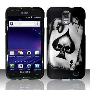 Snap On Hard Protector Cover Case For Samsung Galaxy Skyrocket i727 - Spade Skull