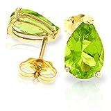 ALARRI 3 CTW 14K Solid Gold Art Of Love Peridot Earrings