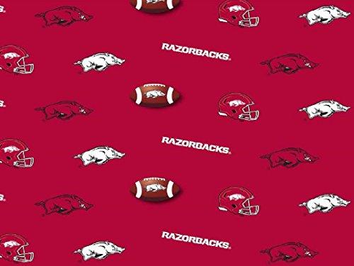 Collegiate Cotton Broadcloth University of Arkansas Razorbacks Fabric