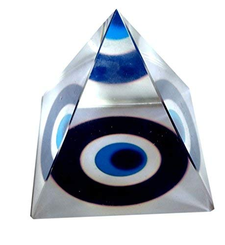 (Buycrafty Vastu Feng Shui Evil Eye Crystal Pyramid For Positive Energy And Vastu Correction)