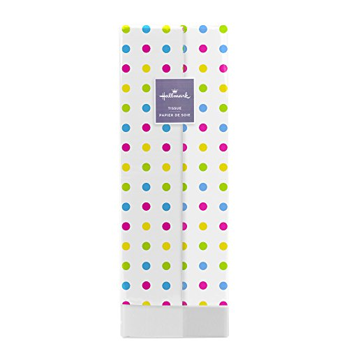 Pastel Dots - Hallmark Tissue Paper (Multicolored Dots, 8 Sheets)