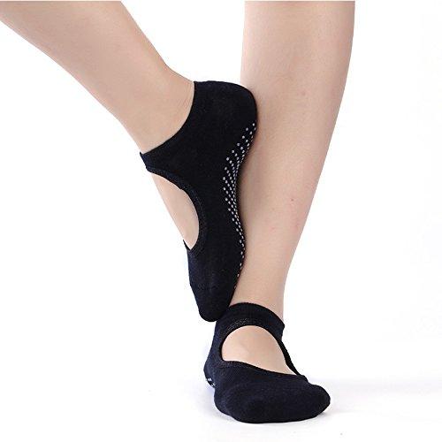 Zapatillas antideslizantes para mujeres Calcetines de yoga Pilates Calcetines de masaje con puños Best Fitness Danza