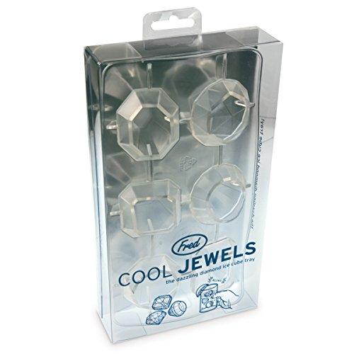 Un bac à glaçons lavable en silicone alimentaire pour créer 6 gros glaçons en forme de diamants (24 carats au moins !) - Marque : Fred