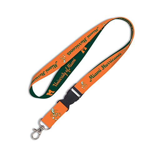 (WinCraft Miami Hurricanes Official NCAA 20 inch Lanyard Key Chain Keychain by 545015)